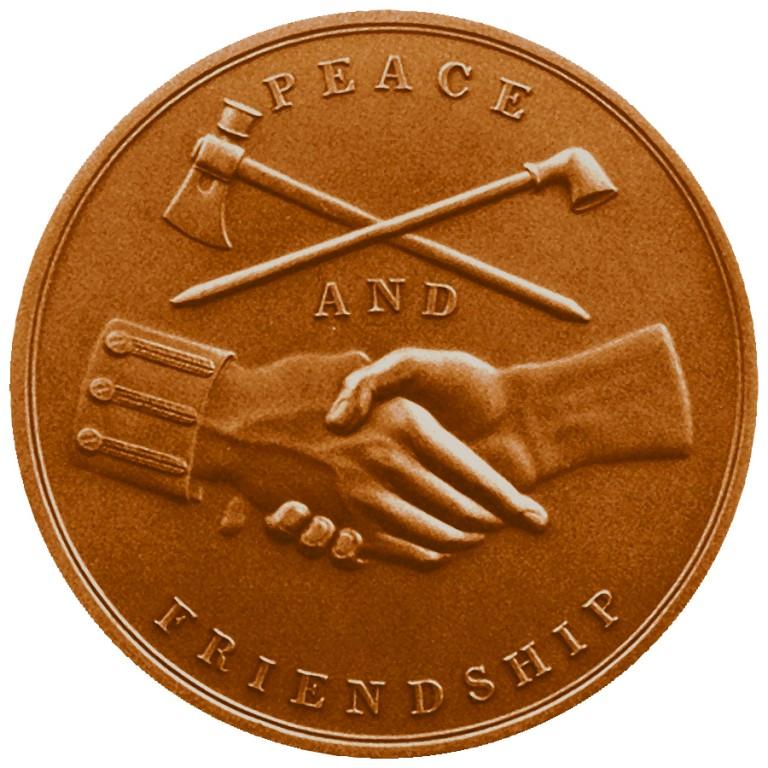 John Tyler Presidential Bronze Medal Reverse