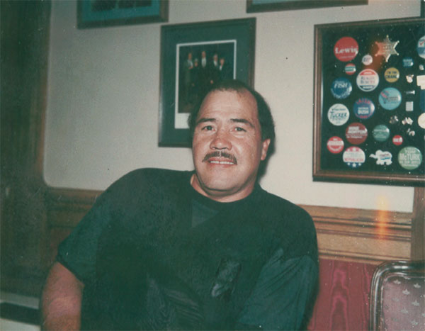 Luis Martinez's father, also named Luis, pictured at the Mint in Denver in the 1990s.