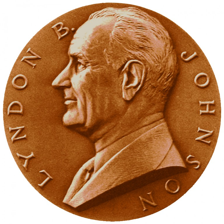 Lyndon B Johnson Term 1 Presidential Bronze Medal Obverse