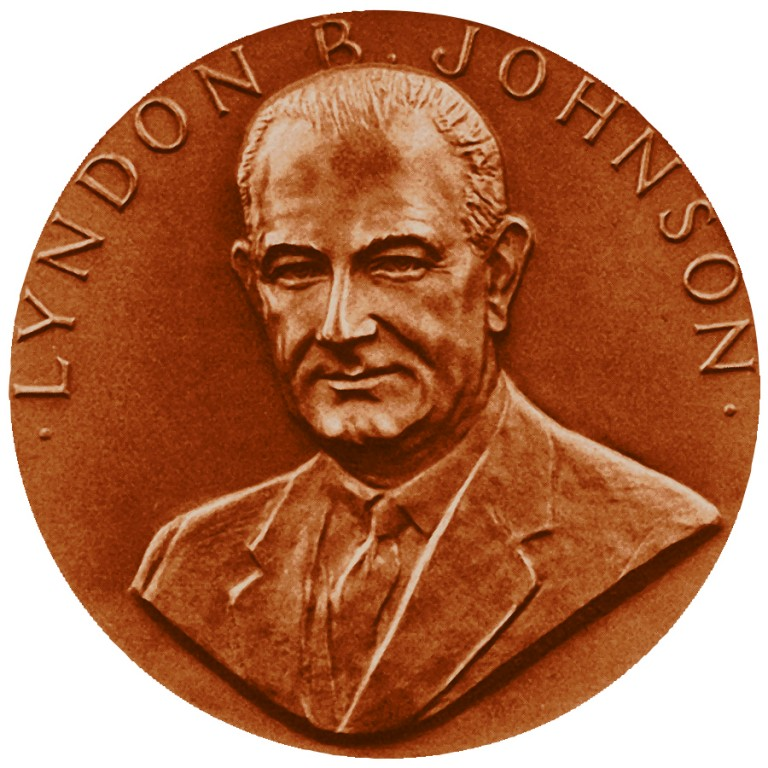 Lyndon B Johnson Term 2 Presidential Bronze Medal Obverse