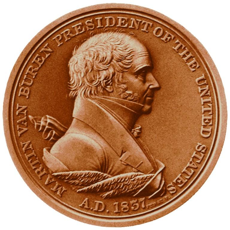 Martin Van Buren Presidential Bronze Medal Obverse