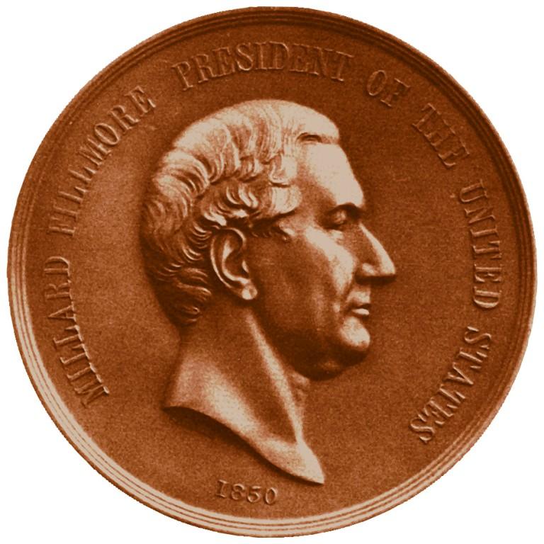 Millard Fillmore Presidential Bronze Medal Obverse