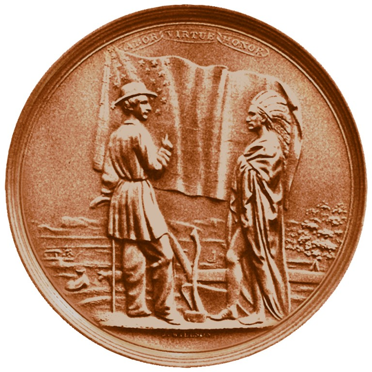Millard Fillmore Presidential Bronze Medal Reverse