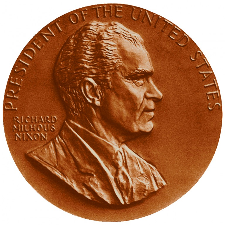 Richard M Nixon Term 1 Presidential Bronze Medal Obverse