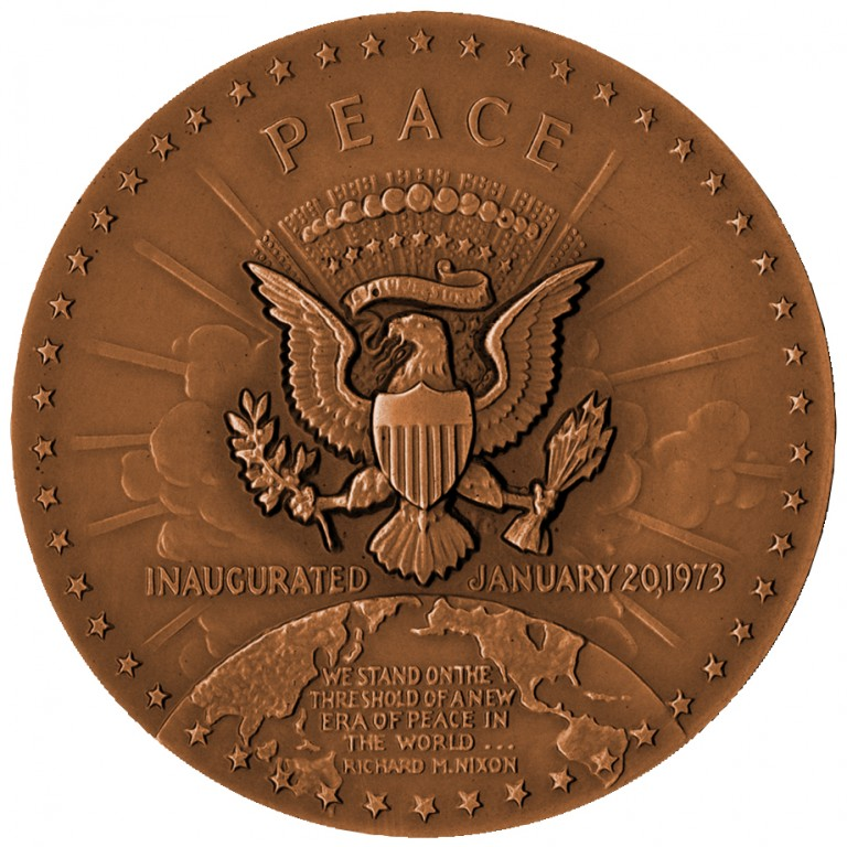 Richard M Nixon Term 2 Presidential Bronze Medal Reverse
