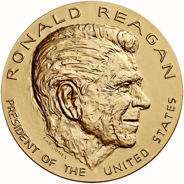 Ronald Reagan Presidential Bronze Medal Three Inch Obverse
