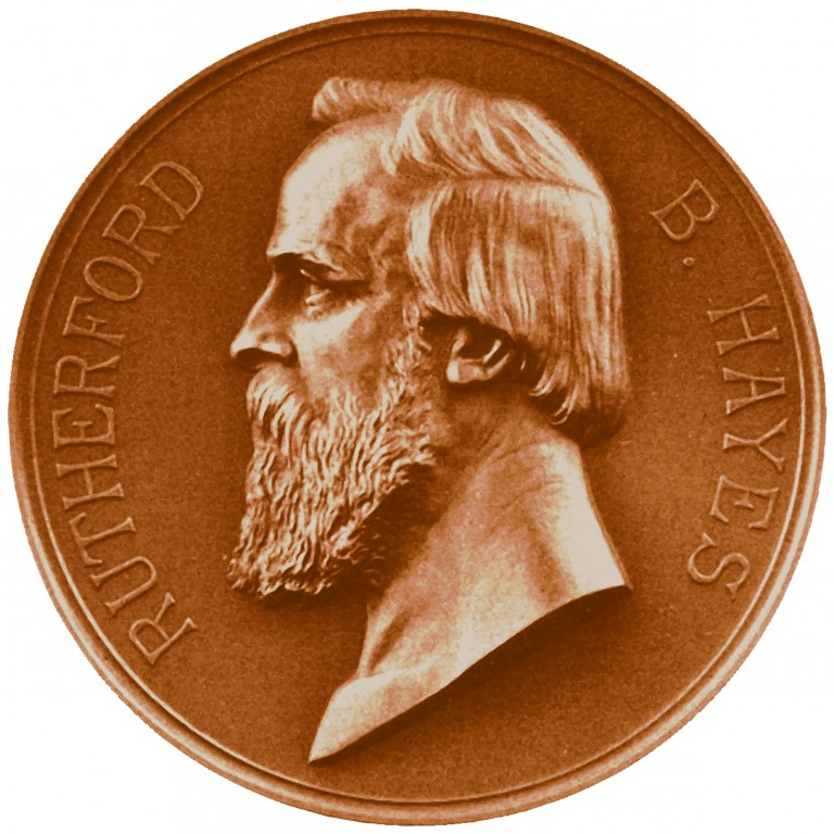 Rutherford B Hayes Presidential Bronze Medal Obverse