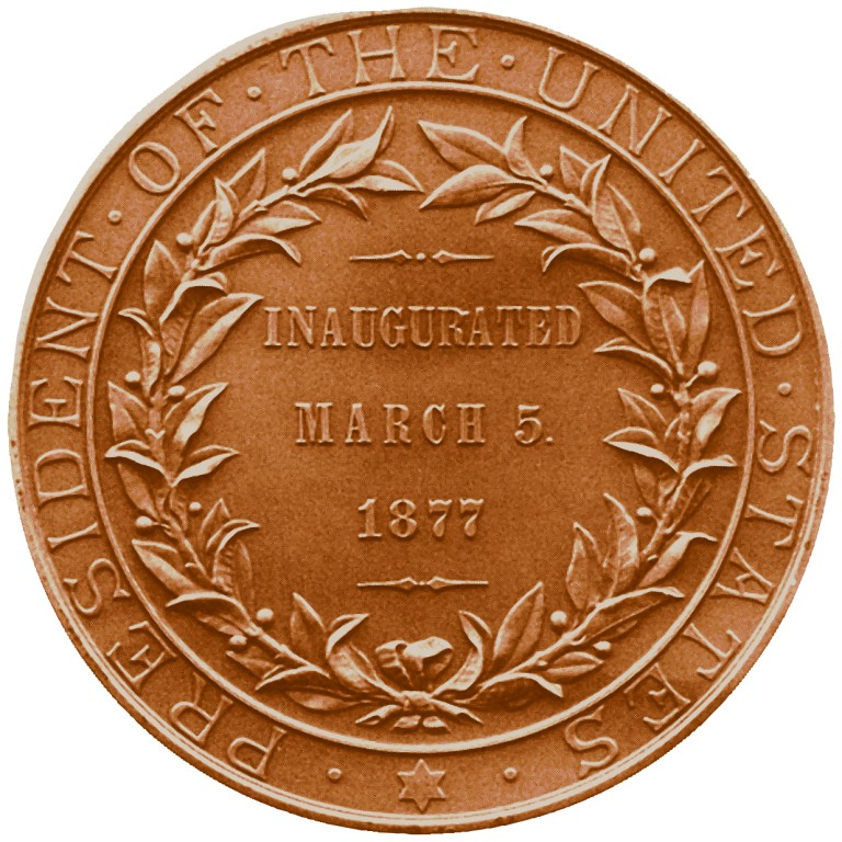 Rutherford B Hayes Presidential Bronze Medal Reverse