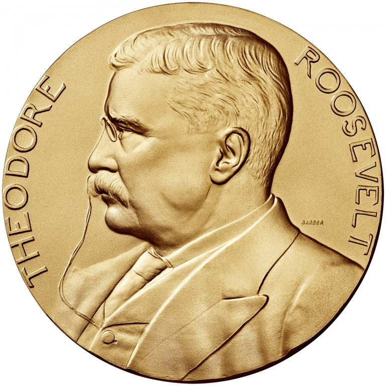 Theodore Roosevelt Presidential Bronze Medal Three Inch Obverse