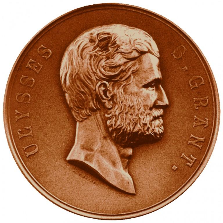 Ulysses S Grant Presidential Bronze Medal Obverse
