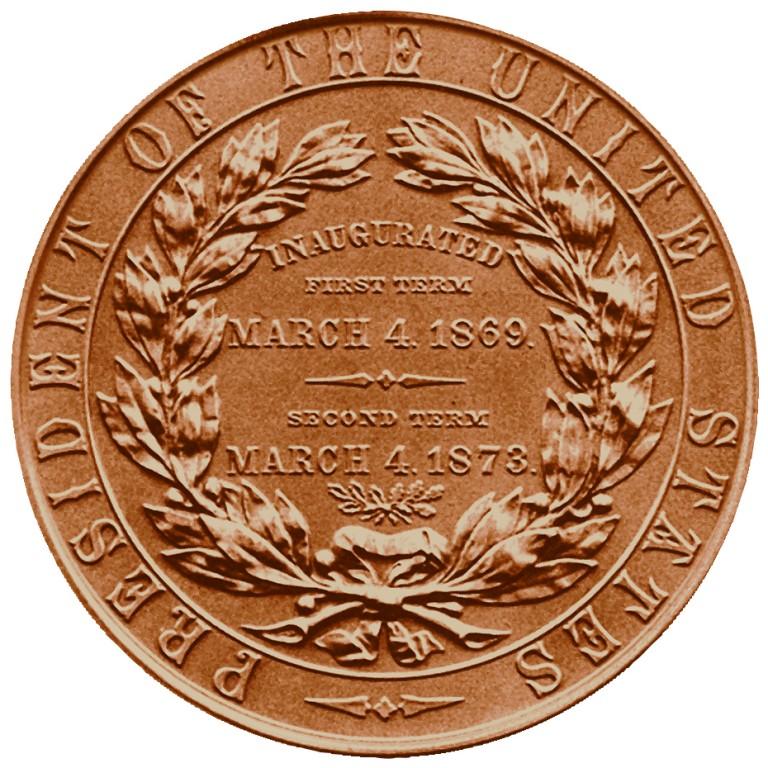 Ulysses S Grant Presidential Bronze Medal Reverse