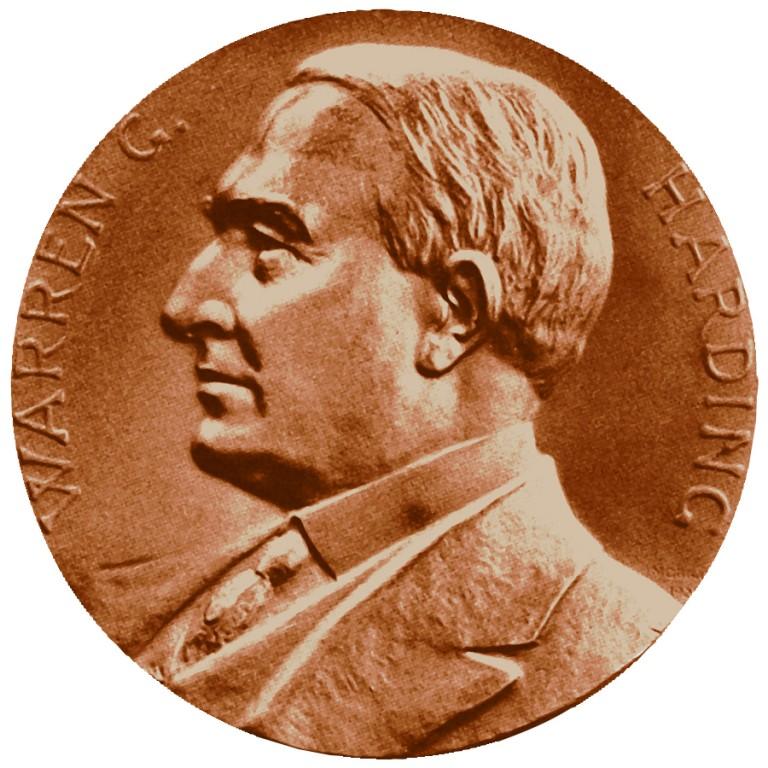 Warren G Harding Presidential Bronze Medal Obverse
