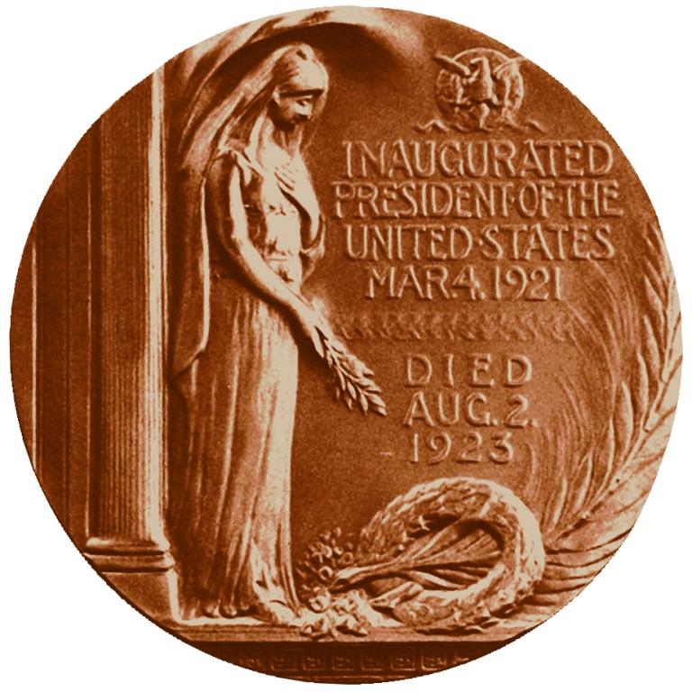 Warren G Harding Presidential Bronze Medal Reverse