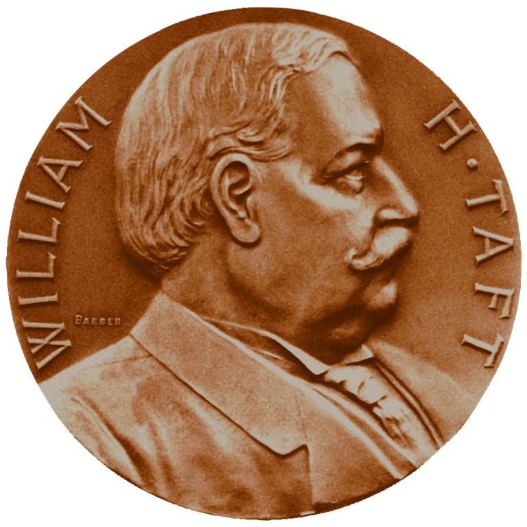 William Howard Taft Presidential Bronze Medal Obverse