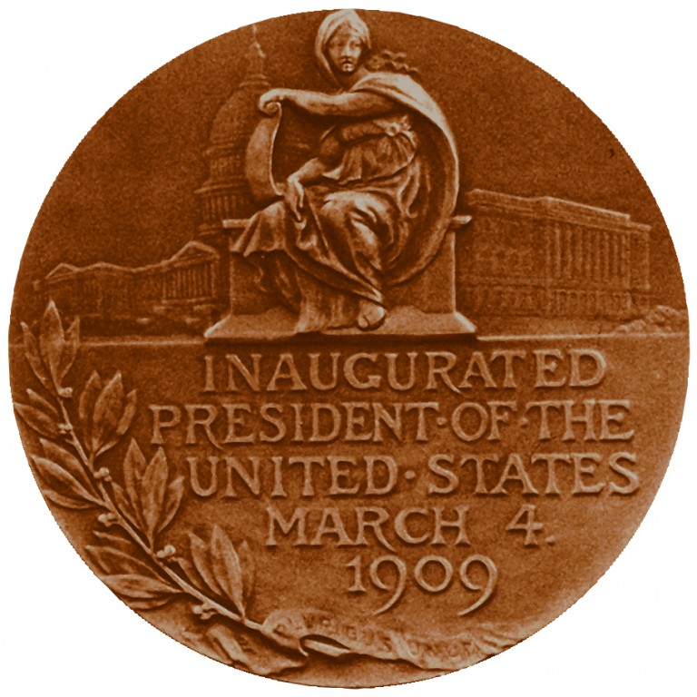 William Howard Taft Presidential Bronze Medal Reverse