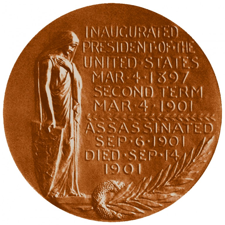 William Mckinley Presidential Bronze Medal Reverse