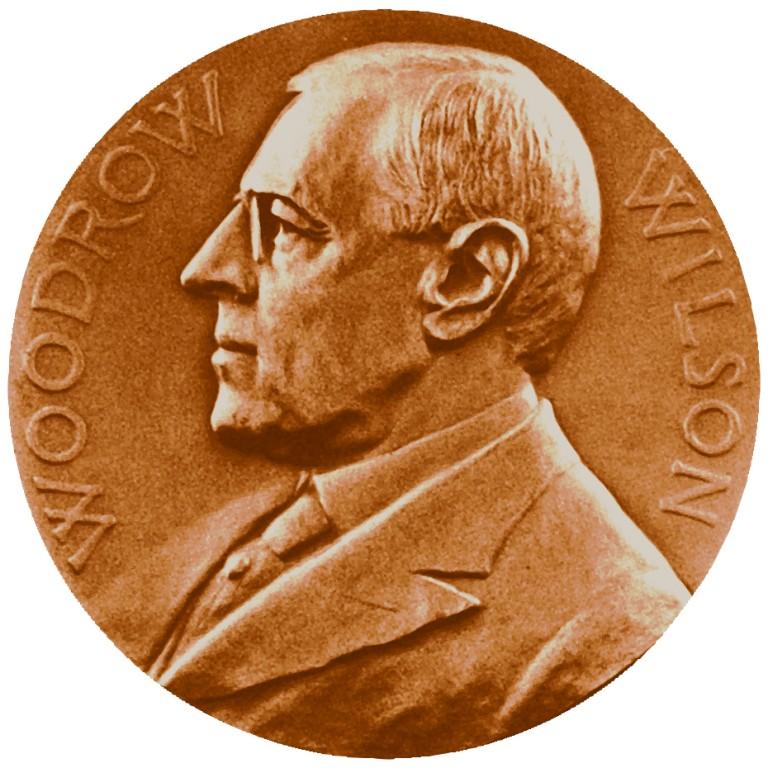 Woodrow Wilson Presidential Bronze Medal Obverse