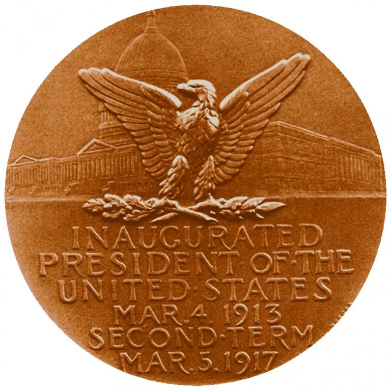 Woodrow Wilson Presidential Bronze Medal Reverse
