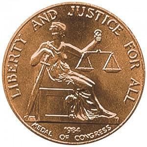 1984 Roy Wilkins Bronze Medal Reverse