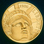 1986 Statue Of Liberty Commemorative Gold Five Dollar Proof Obverse