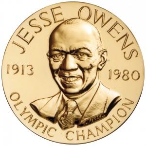 1988 Jesse Owens Bronze Medal Obverse