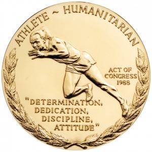 1988 Jesse Owens Bronze Medal Reverse