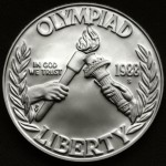 1988 Olympics Seoul Korea Commemorative Silver One Dollar Proof Obverse