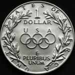 1988 Olympics Seoul Korea Commemorative Silver One Dollar Proof Reverse