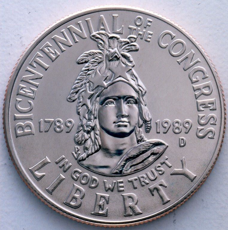 1989 Congress Bicentennial Commemorative Clad Half Dollar Proof Obverse