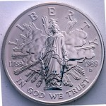 1989 Congress Bicentennial Commemorative Silver One Dollar Proof Obverse