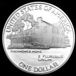 1990 Eisenhower Hundredth Anniversary Commemorative Silver One Dollar Proof Reverse