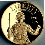 1991-1995 Wwii Anniversary Commemorative Gold Five Dollar Proof Obverse