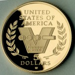 1991-1995 Wwii Anniversary Commemorative Gold Five Dollar Proof Reverse