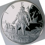 1992 Christopher Columbus Quincentenary Commemorative Clad Half Dollar Proof Obverse