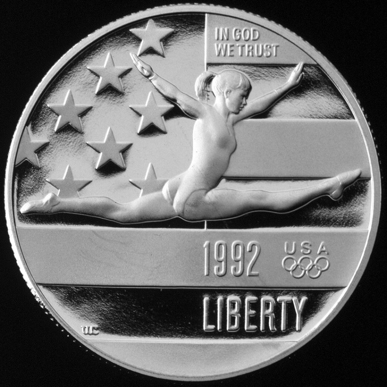1992 Olympics France And Spain Commemorative Clad Half Dollar Proof Obverse