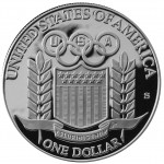 1992 Olympics France And Spain Commemorative Silver One Dollar Proof Reverse