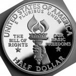 1993 Bill Of Rights Commemorative Clad Half Dollar Proof Reverse