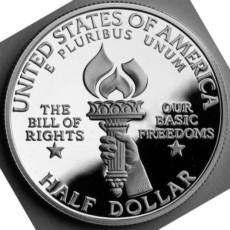 1993 Bill Of Rights Commemorative Clad Half Dollar Proof Reverse