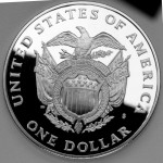 1994 Bicentennial United States Capitol Commemorative Silver One Dollar Proof Reverse