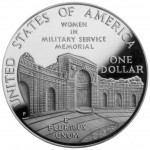 1994 Women In Military Service For America Commemorative Silver One Dollar Proof Reverse
