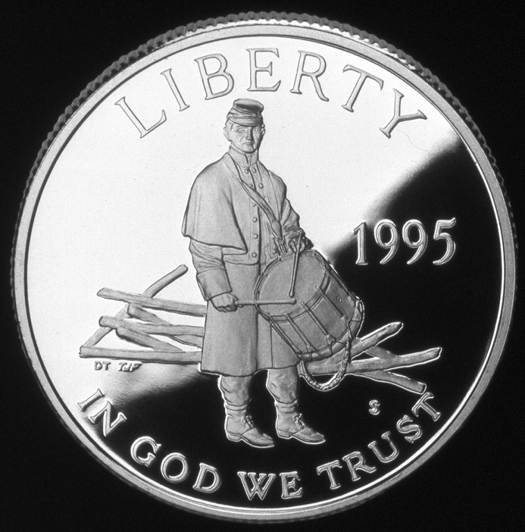 1995 Civil War Battlefield Commemorative Clad Half Dollar Proof Obverse