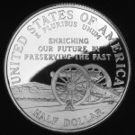 1995 Civil War Battlefield Commemorative Clad Half Dollar Proof Reverse