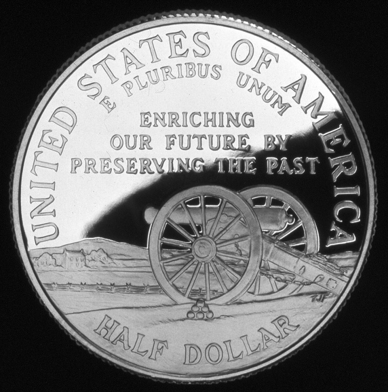1995 Civil War Battlefield Commemorative Clad Half Dollar Proof Reverse