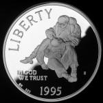 1995 Civil War Battlefield Commemorative Silver One Dollar Proof Obverse