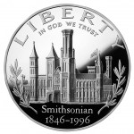 1996 Smithsonian Institution Commemorative Silver One Dollar Proof Obverse