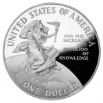 1996 Smithsonian Institution Commemorative Silver One Dollar Proof Reverse