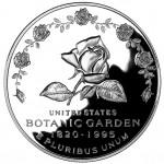 1997 United States Botanic Garden Commemorative Silver One Dollar Proof Reverse