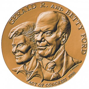 1998 Gerald And Betty Ford Bronze Medal Obverse