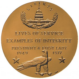 1998 Gerald And Betty Ford Bronze Medal Reverse