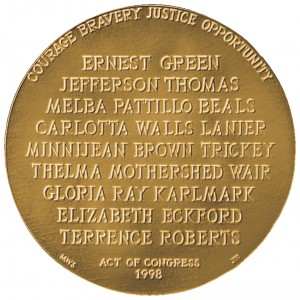 1998 Little Rock Nine Bronze Medal Reverse
